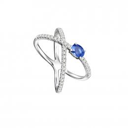 Citigems 14K Prezioni Sapphire Ring