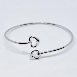Pre-Loved Tiffany & Co. Elsa Peretti Double Open Heart Silver Bracelet