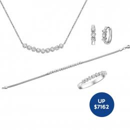 Citigems 18K White Gold Diamond Set