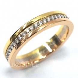 Pre-Loved Cartier Trinity 18K Three Tone Gold Diamond Band Ring