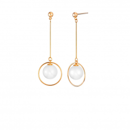 Citigems 18K Rose Gold Nephela Nephrite Earrings