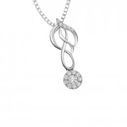 Citigems White Gold Diamond Pendant
