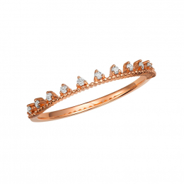 Citigems 18K Rose Gold Seoul Style Ring 94906
