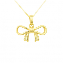 Citigems 916 Gold Dainty Ribbon Pendant