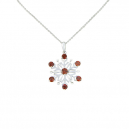 Citigems White Gold Snowflake Pendant