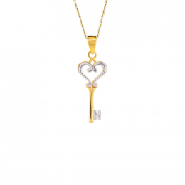 Citigems 916 Heart Key Pendant