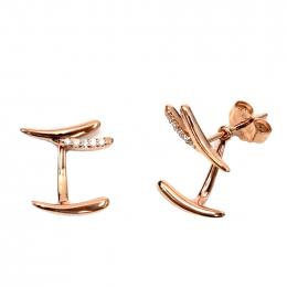 Citigems 18K Rose Gold Seoul Style Earrings
