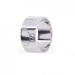 Pre-Loved Gucci Icon 18K White Gold Ring