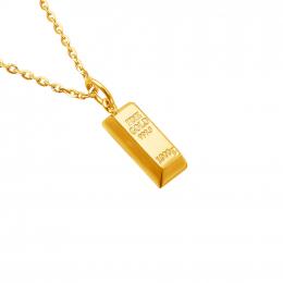 Citigems 999 Pure Gold Bar Pendant