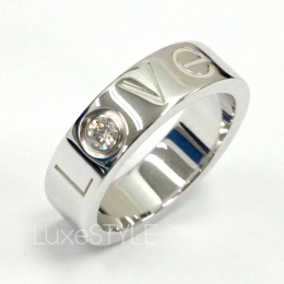 Pre-Loved Cartier Love 18K White Gold 1 Diamond Ring