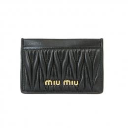 Miu Miu Matelasse Leather Black Cardholder (Unused)