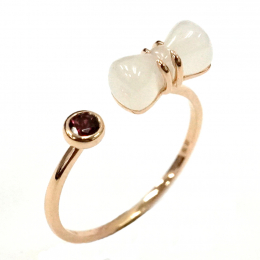Citigems 18K Rose Gold Nephrite Ring
