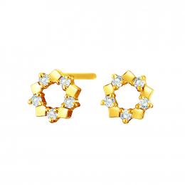 Citigems 18K Elistar Diamond Earrings