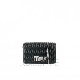 Miu Miu Delice Matelasse Leather Black Sling Bag