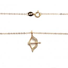 Citigems 18K Rose Gold Diamond Necklace