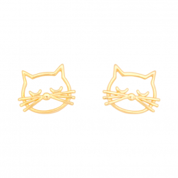 Citigems 916 Gold Sassy Cat Earrings