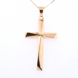Citigems 916 Gold Asymmetrical Cross Pendant