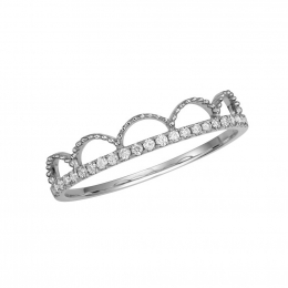 Citigems 14K White Gold Seoul Style Ring