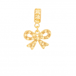 Citigems 916 Gold Sweet Ribbon Charm