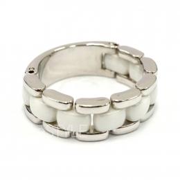 Chanel Ultra 18K White Gold White Ceramic Flexible Ring (Preloved)