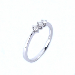Citigems Perfect Love White Gold Classic Trilogy Diamond Ring