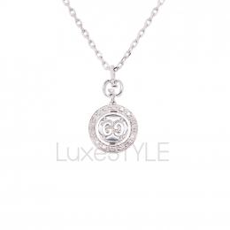 Pre-Loved Gucci Icon Twirl 18K White Gold Diamond Necklace