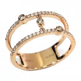 Citigems Rose Gold Diamond Ring
